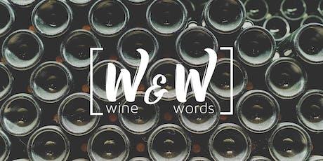 Wine & Words - October tickets