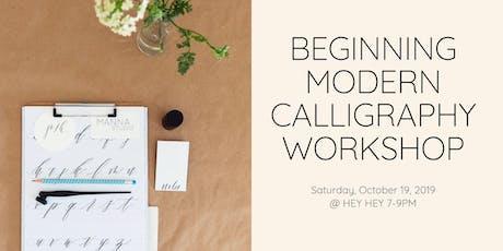 Beginner's Modern Calligraphy & SpecialTEAS tickets