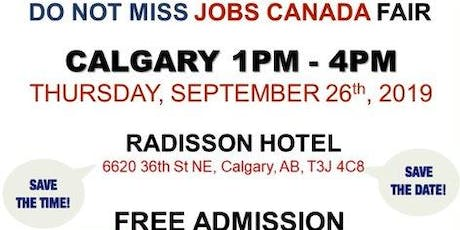 CALGARY JOB FAIR – September 26th, 2019 tickets