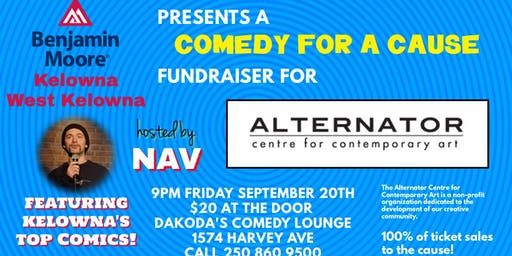 Benjamin Moore Kelowna presents Comedy for a Cause for Alternator Centre