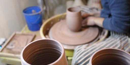 6-Week Pottery Wheel-Throwing + Basic Hand-Building Class