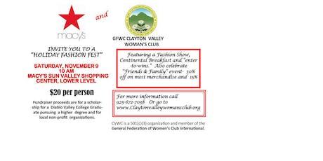 Clayton Valley Woman's Club Holiday Fashion tickets