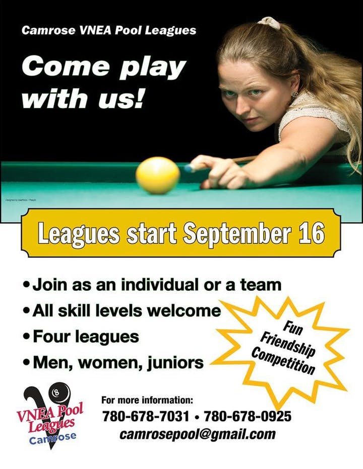 All Ages Pool Tournament Tickets, Sun, Sep 15, 2019 at 11:00