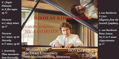 """NIKOLAY KHOZYAINOV with the program \""""MY FAVORITES\"""""""