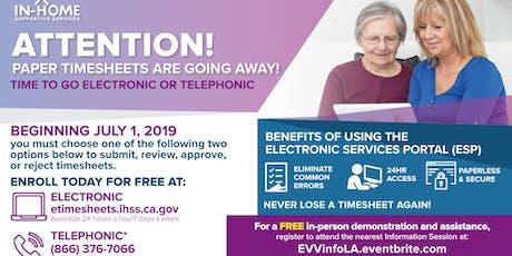Electronic Visit Verification (EVV) Information Session tickets