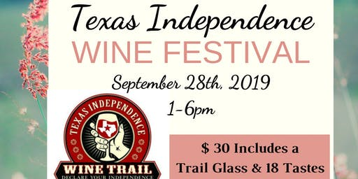 Texas Independence Wine Festival Group Rates