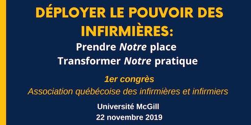 1er Congrès de l'Association québécoise des infirmières et infirmiers