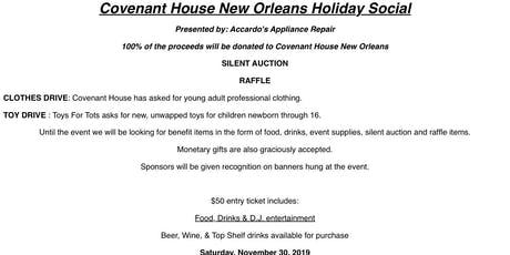 Holiday Social to benefit Covenant House New Orleans tickets