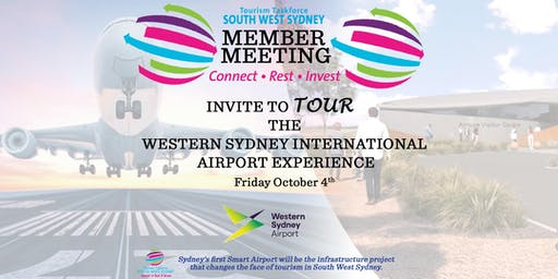 You're Invited to Tour THE WESTERN SYDNEY INTERNATIONAL AIRPORT EXPERIENCE