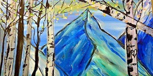 Paint Wine Denver Aspen Mountain Sun Oct 6th 5:30pm $25