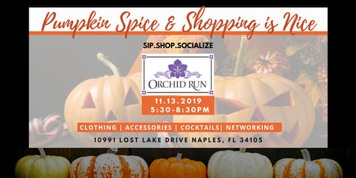 Sip.Shop.Socialize Pumpkin Spice & Shopping is Nice