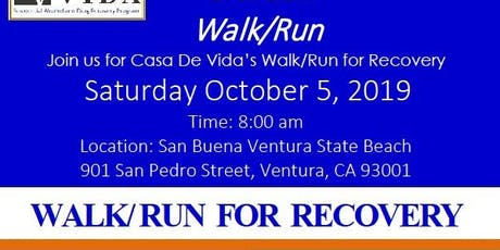 Walk/Run for Recovery tickets