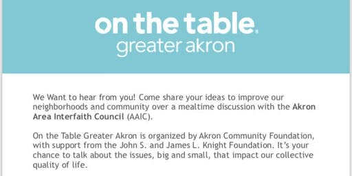 On the Table with the Akron Area Interfaith Council