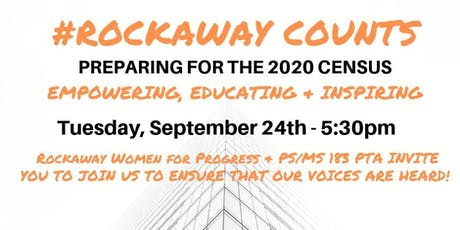#ROCKAWAY COUNTS - Preparing for the 2020 Census tickets
