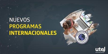 Charla de café informativa sobre Programas Internacionales UTEL boletos