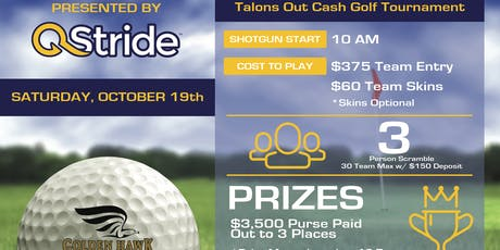 QStride Presents Talons Out $3,500 Cash Golf Tournament tickets