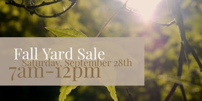 Fall Community Yard Sale at Boulevard Flower Gardens