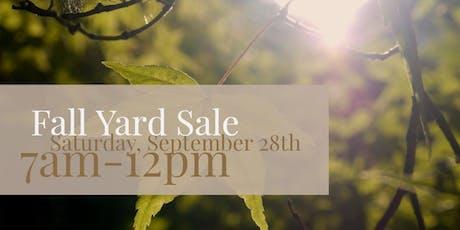 Fall Community Yard Sale at Boulevard Flower Gardens tickets