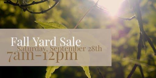 Fall Community Yard Sale at Boulevard Flower Gardens