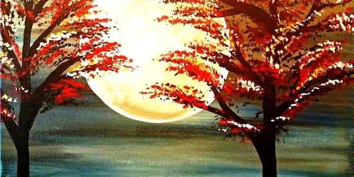 Paint Wine Denver Moonlight Sun Oct 20th 5:30pm $25