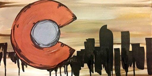 Paint Wine Denver Colorado Copper Flag Sun Oct 27th 5:30pm $25