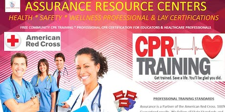 FREE COMMUNITY CPR AED FIRST AIDE TRAINING tickets