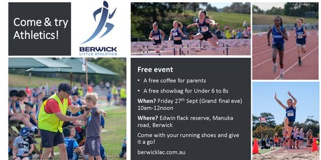 Berwick Athletics Come and Try Day tickets