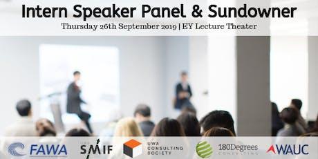 Intern Speaker Panel & Sundowner tickets