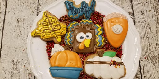 Beginner Thanksgiving cookie class
