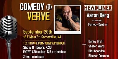 Comedy at Verve on September 20th
