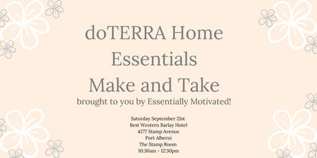 Home Essentials Make and Take - doTERRA tickets