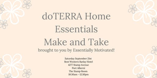 Home Essentials Make and Take - doTERRA