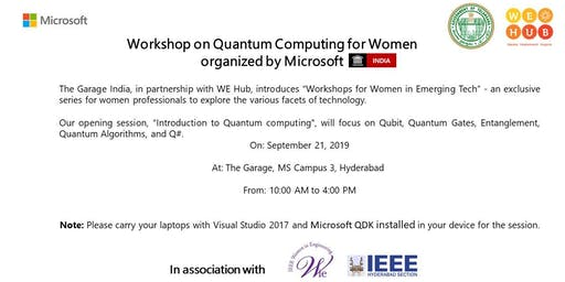 Workshop on Quantum Computing for Women organized by Microsoft  Garage