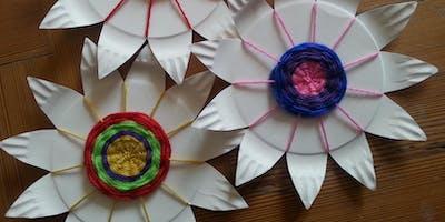 Woollen Flower Plates