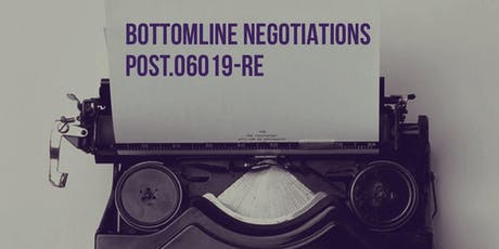 Negotiations and the Bottom Line Session 6 Modules N & G tickets