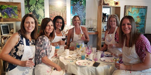Fall Time Wine Glass Painting at LDV Wine Tasting Room