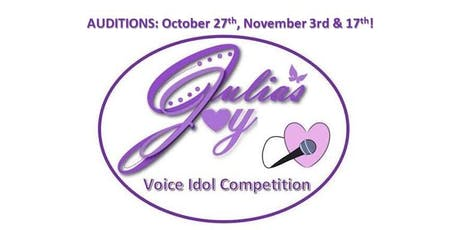 AUDITIONS NOW OPEN for Julia's Joy Voice Idol Competition for Ages 11-18 tickets