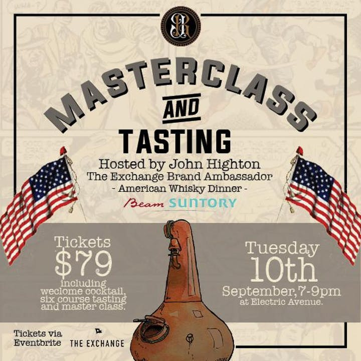 Masterclass & 6 Course American Whisky Tasting