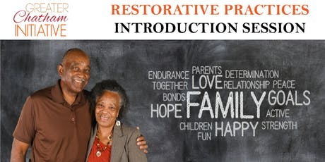 Restorative Practice Introduction Session -  Monday, October 7, 2019 tickets