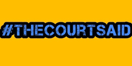 #thecourtsaid CARDIFF - LONDON tickets