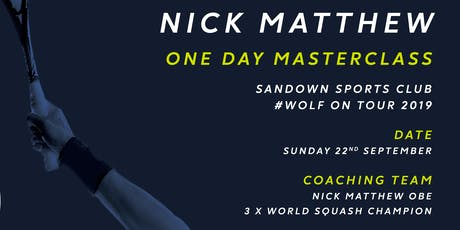 Nick Matthew One Day Masterclass tickets