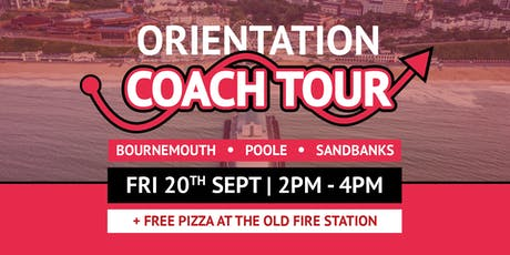 Bournemouth, Poole & Sandbanks Orientation Coach + Free Pizza tickets