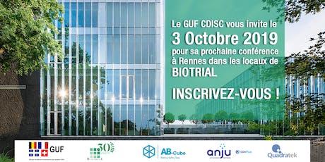 GUF CDISC - Rennes / 03 Octobre 2019 billets
