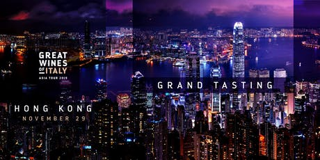 Great Wines of Italy 2019: Hong Kong Grand Tasting tickets