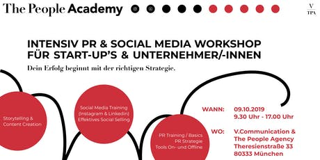 TPAcademy: PR & SOCIAL MEDIA WORKSHOP FÜR START-UP´s  &  UNTERNEHMER/-INNEN Tickets