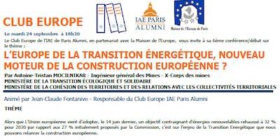 L'Europe de la transition énergétique