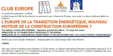 L'Europe de la transition énergétique billets