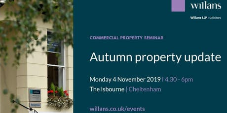 Commercial property professionals' autumn update with Willans LLP, solicitors tickets