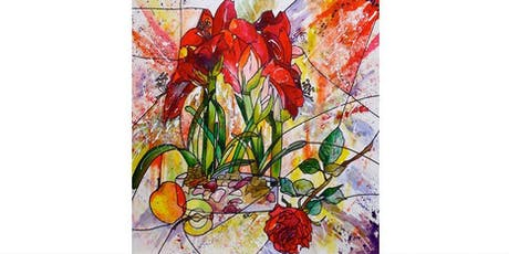 ABSTRACT STILL LIFE - SEASONAL FLOWERS AND FRUIT tickets