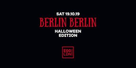Berlin Berlin Halloween Edition W/ Pornceptual tickets